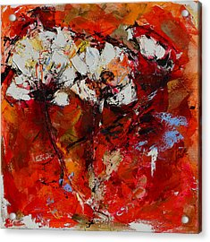 Acrylic Print featuring the painting Dancing Flowers by Elise Palmigiani