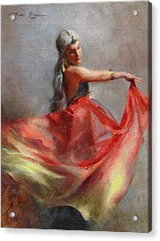 Dancing Gypsy Acrylic Print by Anna Rose Bain