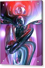 Dancing Hallucination Abstract Acrylic Print by Alexander Butler