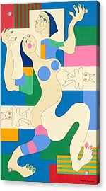 Dancing Acrylic Print by Hildegarde Handsaeme