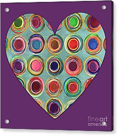 Acrylic Print featuring the painting Dancing In Circles Heart by Carla Bank