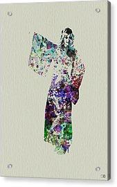 Dancing In Kimono Acrylic Print