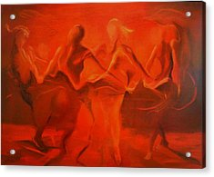Dancing In The Gloaming Acrylic Print by Georg Douglas
