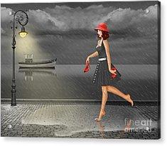 Dancing In The Rain Acrylic Print by Monika Juengling