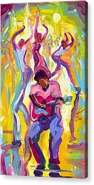 Dancing In The Streets Acrylic Print by Saundra Bolen Samuel