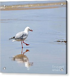 Dancing In Time With My Reflection Acrylic Print by Kaye Menner