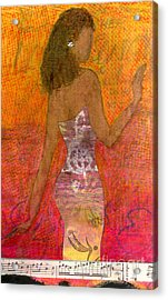 Dancing Lady Acrylic Print by Angela L Walker