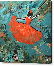 Dancing Lady Acrylic Print by Annette McElhiney