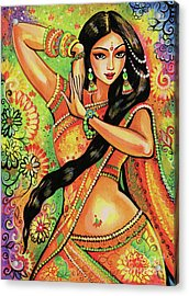 Acrylic Print featuring the painting Dancing Nithya by Eva Campbell