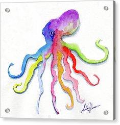 Dancing Octopus Acrylic Print