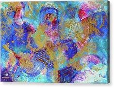 Acrylic Print featuring the mixed media Light Sail by Eva Konya
