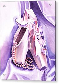 Dancing Pearls Ballet Slippers  Acrylic Print