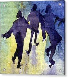Dancing People Acrylic Print by Natalia Eremeyeva Duarte