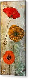 Dancing Poppies II Acrylic Print