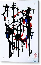 Acrylic Print featuring the painting Dancing Rhythm by Roberto Prusso