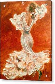 Dancing Senorita Acrylic Print