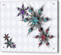 Dancing Snowflakes Acrylic Print