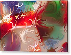 Acrylic Print featuring the painting Dancing Stars by Omaste Witkowski