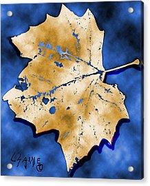 Dancing Tan Leaf Acrylic Print by Carolyn Saine