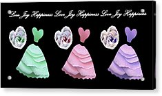 Dancing The Love Dance - Love Joy Happiness - No. 2 Acrylic Print by Jacqueline Migell