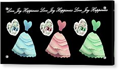 Dancing The Love Dance - Love Joy Happiness No. 3 Acrylic Print by Jacqueline Migell