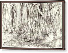 Dancing Trees Acrylic Print by Ruth Renshaw