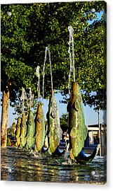 Dancing Trout Fountain Acrylic Print