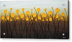 Acrylic Print featuring the painting Dancing Tulips by Carmen Guedez