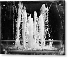 Dancing Waters B/w Acrylic Print