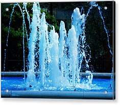 Dancing Waters Blue Acrylic Print