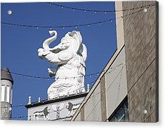 Dancing White Elephant Acrylic Print