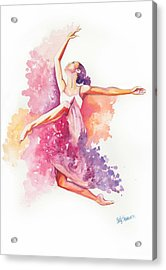 Dancing With Colors Acrylic Print by Cindy Elsharouni