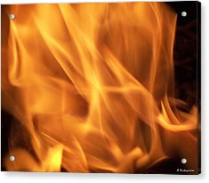 Acrylic Print featuring the photograph Dancing With Fire by Betty Northcutt