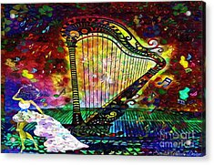 Dancing With The Harp Acrylic Print