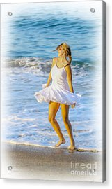 Dancing With The Waves Acrylic Print by Randy Steele