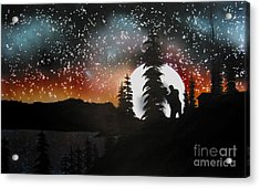 Dancing With You Acrylic Print by Ed Moore