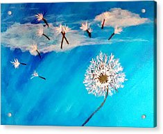 Dandelion Spirit Acrylic Print by Angie Baker