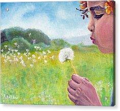 Dandelion Acrylic Print by Viktor Stakhov