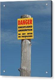 Danger Acrylic Print