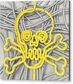 Danger Traffic Roads Acrylic Print by Gualtiero Boffi