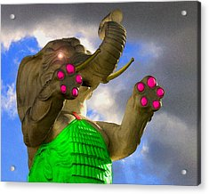 Acrylic Print featuring the digital art Dangerous Elephant by Timothy Bulone