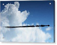 Acrylic Print featuring the photograph Dangerous Reflection Saltwater Crocodile 2 by Gary Crockett