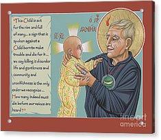 Holy Prophet Daniel Berrigan 291  Acrylic Print