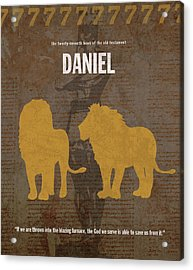Daniel Books Of The Bible Series Old Testament Minimal Poster Art Number 27 Acrylic Print by Design Turnpike