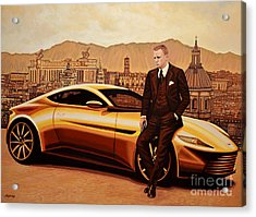 Daniel Craig As James Bond Acrylic Print by Paul Meijering