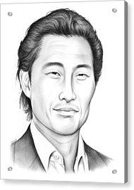 Daniel Dae Kim Acrylic Print by Greg Joens