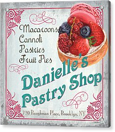 Danielle's Pastry Shop Acrylic Print by Debbie DeWitt