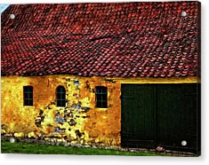 Danish Barn Watercolor Version Acrylic Print by Steve Harrington