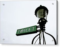 Danish Toilet Sign Acrylic Print