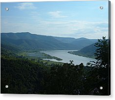 Danube River Bend Acrylic Print by Helena Helm